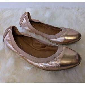 Coach Dalia Rose Gold Ballet Flats size 6